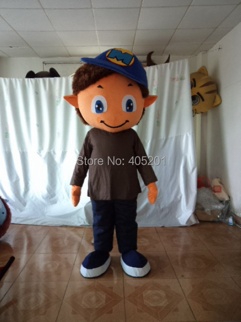 blue hat smile boy mascot costumes cool kids costume & blue hat smile boy mascot costumes cool kids costume-in Mascot from ...