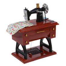 Wind Up Vintage Mini Sewing Machine Style Mechanical Music Box