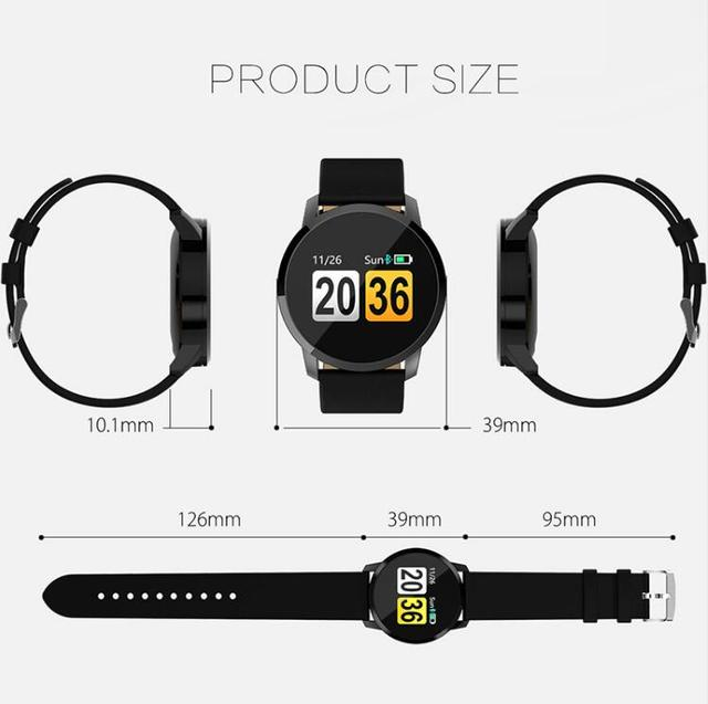 NAIKU Q8 Smart Watch OLED Color Screen men Fashion Fitness Tracker Heart Rate Blood Pressure Oxygen Smartwatch 5