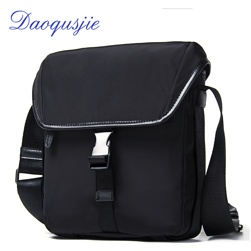 DAOQUSJIE men's nylon shoulder bag waterproof high quality messenger bag for men casual travel crossbody bags with phone pockets 2016 outdoor shoulder bag unisex nylon casual travel multi phone pouch messenger pockets bags new arrival diagonal package 1pcs