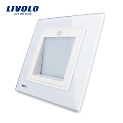 Manufacturer,Livolo New Arrival, UK Standard,  Porch / Corridor /Corner Lamp, Footlights Switch,  White Color, -W291JD-12/11/13