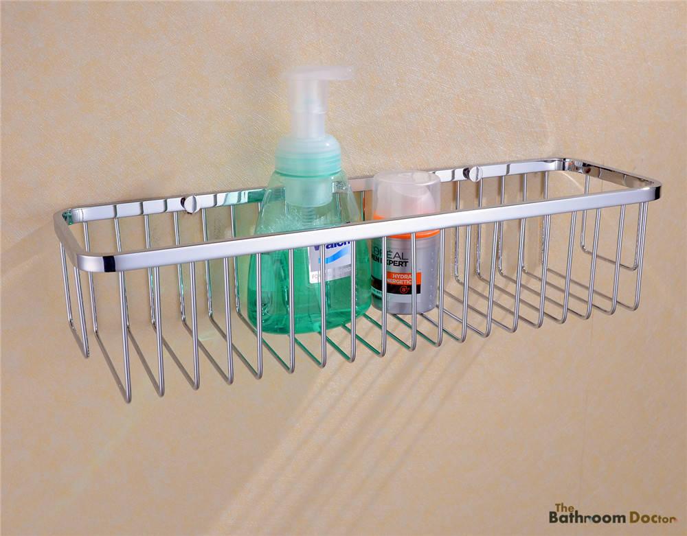 Bathroom Accessories Stainless Steel Shower Wire Wall Basket Storage Shelves 09-002