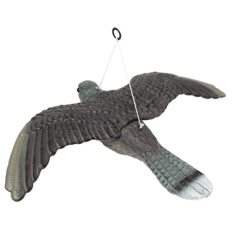 Simulation Flying Bird Hawk Pigeon Decoy Mouse Repeller Pest Control Garden Scare Deterrent Device Scarecrow Ornament