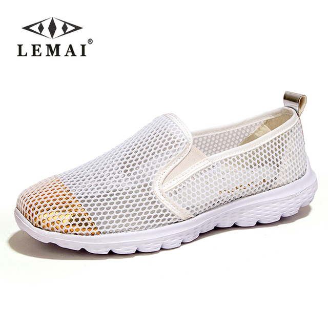 pick a best sale online discount low cost Mesh Flat Heel Slip On Casual Shoes - White 40 countdown package cheap price sale cheap price BNYjf