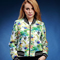 Spring and autumn trench coat print elegant long-sleeve short design women's fashion outerwear plus size s-2XL  V182