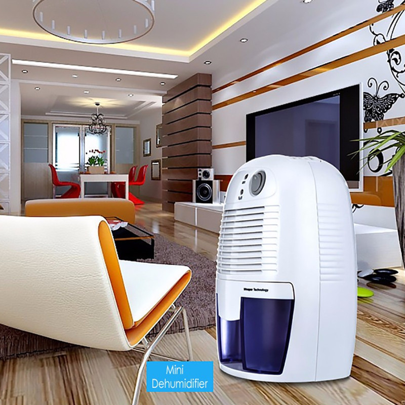INVITOP Mini Dehumidifier for Home Portable 500ML Moisture Absorbing Air Dryer with Auto-off and LED indicator Air Dehumidifier dmwd portable mini dehumidifier electric absorbing air dryer air dehumidifiers moisture absorber auto off led indicator 500ml eu