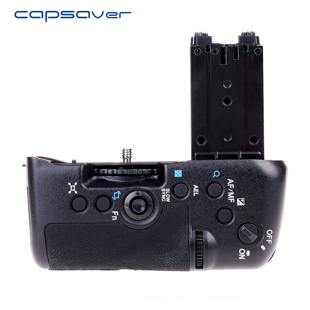 capsaver Vertical Battery Grip for Sony A77 A77V A77 II A77 Mark II Camera Replace VG-C77AM Battery Holder Work with NP-FM500H free shipping 95%new camera shurrer unit for sony slt a77 ii a77m2 a77 m2 shutter box plate replacement repair part
