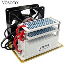 Máquina portátil do ozônio do gerador de ozônio, 24 g/h com ventilador, placa cerâmica de longa duração, ozonizador de água, esterilizar, tratamento do purificador