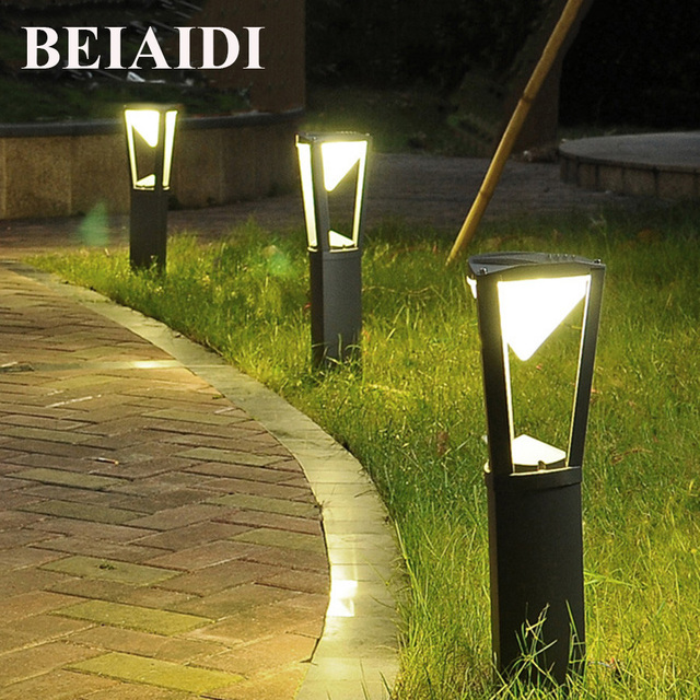BEIAIDI Outdoor Stand Pole Column LED Lawn Light 10W Die Cast Aluminum  Garden Patio Lawn Lamp Waterproof Villa Garden Park Light In Lawn Lamps  From Lights ...