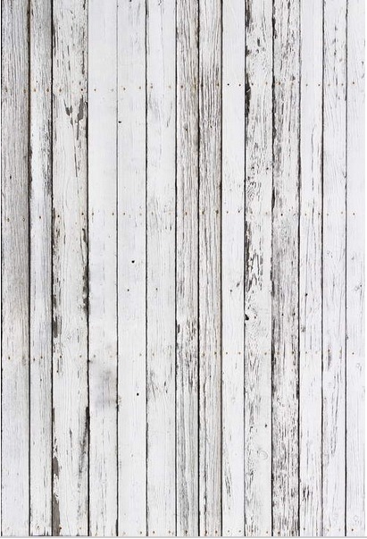 10x10ft Vintage Antique White Grey Wooden Planks Wood Wall