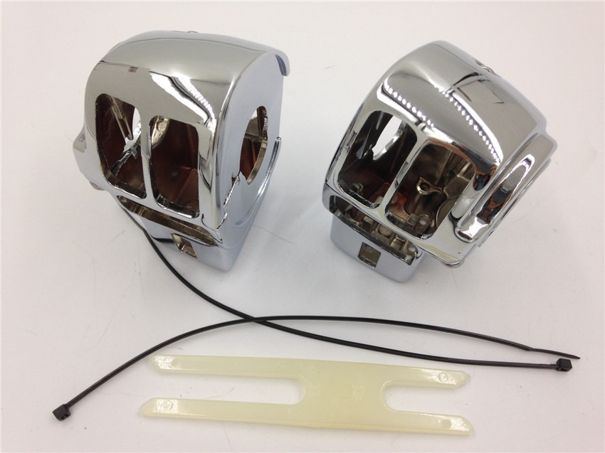 Aftermarket free shipping motor parts CHROM Switch Housing Cover For 1996-2013 Harley Davidson Electra Glide Classic FLHTC/ 1996 for 1996 later harley davidson electra glide flhtcu i