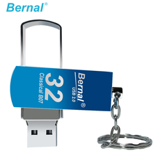 Bernal metal flash drive stick 2.0 8GB 16GB 32GB 64GB PENDRIVE high speed USB flash drive rotate USB PEN DRIVE Memory disk