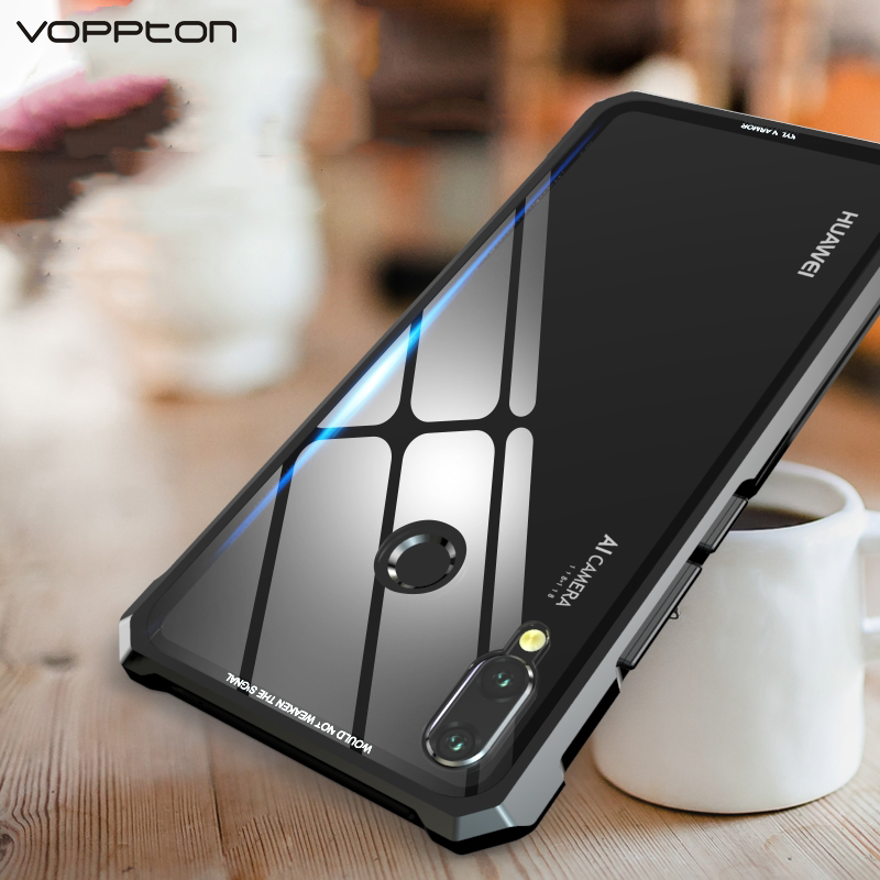 US $12 99 35% OFF|For Huawei nova 3 nova 3i Case Luxury Aluminum Metal  Frame Hard Clear Tempered Glass Cover Cases For Huawei nova 3 nova 3i  Capa-in