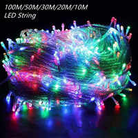10M 20M 30M 50M 100M LED guirnalda cadena luz navidad hadas luces al aire libre para árbol de navidad boda decoración navidad