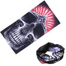 Flame horror demon Skull Motorcycle Tube Scarf Headwear Face Shield Outdoor Magic Seamless Bandana Multifunctional цена и фото