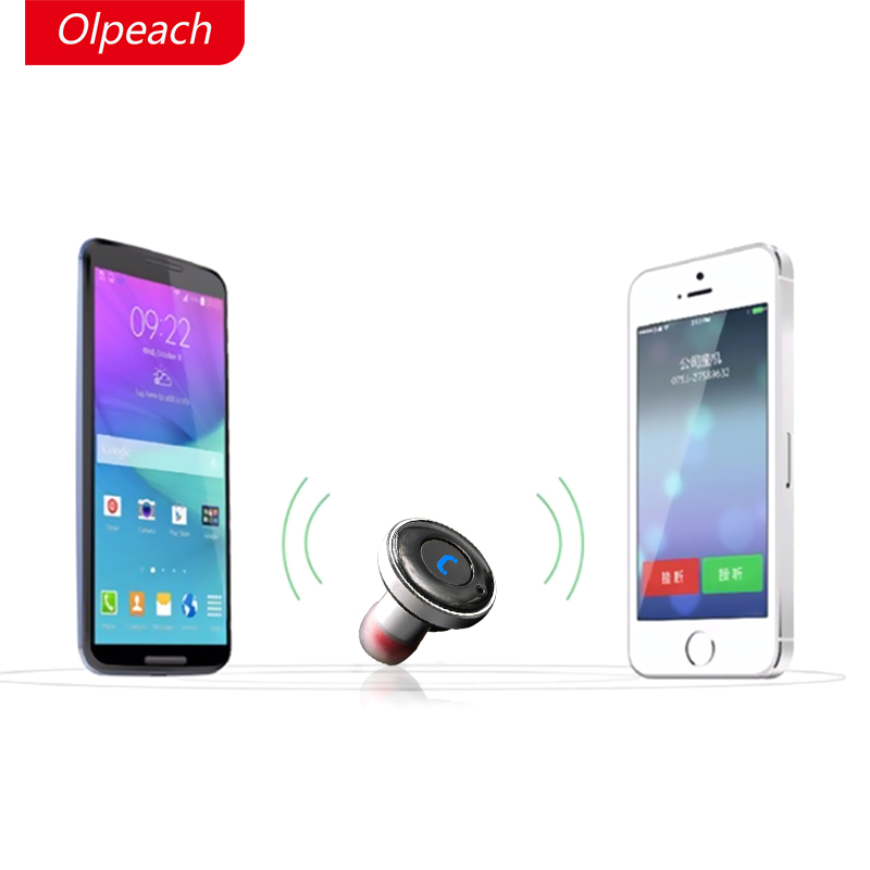 OLPEACH BC01 Mini Bluetooth 4.0 Earphones Car Phone Charger 2 in 1 Bluetooth Wireless in-Earphones Stereo Auto Charging carkit mini wireless bluetooth 2 in 1 in ear earphones car phone charger usb dock stereo headphones for dacom iphone 7 airpods