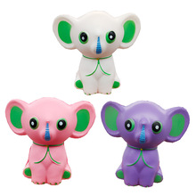 Simulation Animal Big Ears Small Elephant PU Slow Rebound Toy Childrens Holiday Funny Resin Crafts Decoration