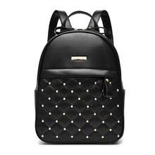 Размер 28*22*13 см опрятный стиль женщины рюкзак. бесплатная Доставка 2017 новый Перейти форма студент мешок.