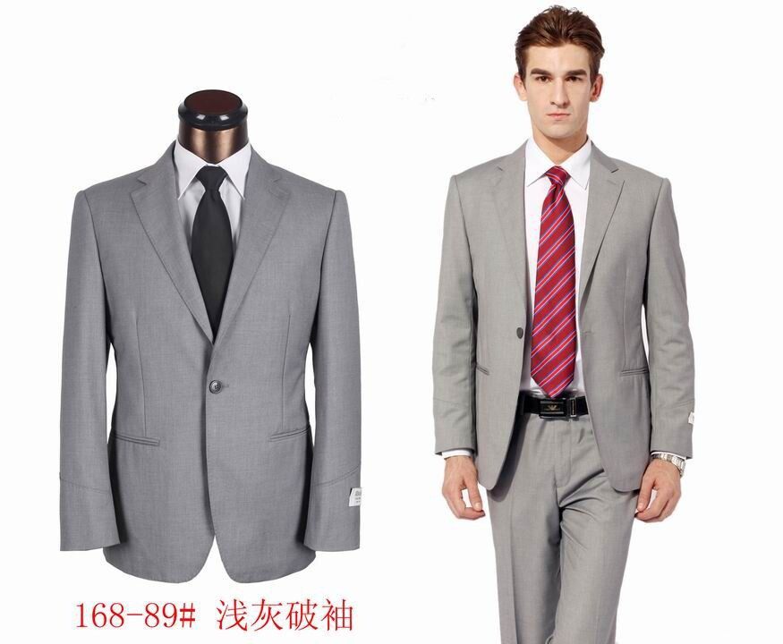 Online Shop Men's Grey color formal suits, men business suit set S ...