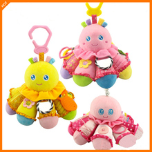 Octopus Plush Dolls Infant Intelligence Development Manual Brain Toy Doll Stroller Pendant