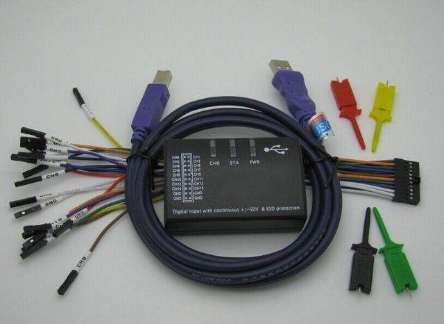 חדש USB היגיון 100MHz 16Ch היגיון מנתח עבור ARM FPGA