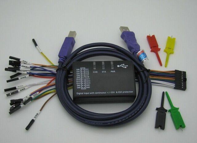 USB Mới Logic 100MHz 16Ch Logic Phân Tích Cho Cánh Tay FPGA