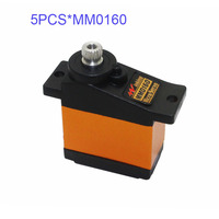 5PCS K power MM0160 3KG/0.12s Metal Gear Servo for Fixed wing RC Airplane Helicopter micro servo for rc hobby