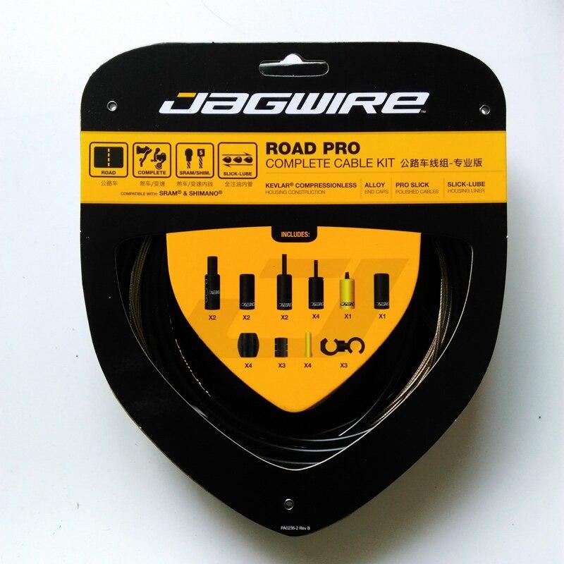Nouveauté Jagwire Kits de vélo de route Pro boîtier en Kevlar téflon LEX SL KEB liens de frein de changement complets ensembles de câbles de vélo