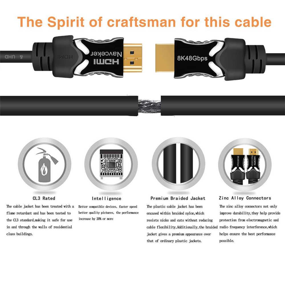 2019 8 K HDMI 2,1 кабель 48 Гбит/с 4K @ 120 Гц 2,1 HDMI кабели штекер HDMI2.1 кабель динамический HDR UHD HDMI 2,1 кабель для DVD ТВ