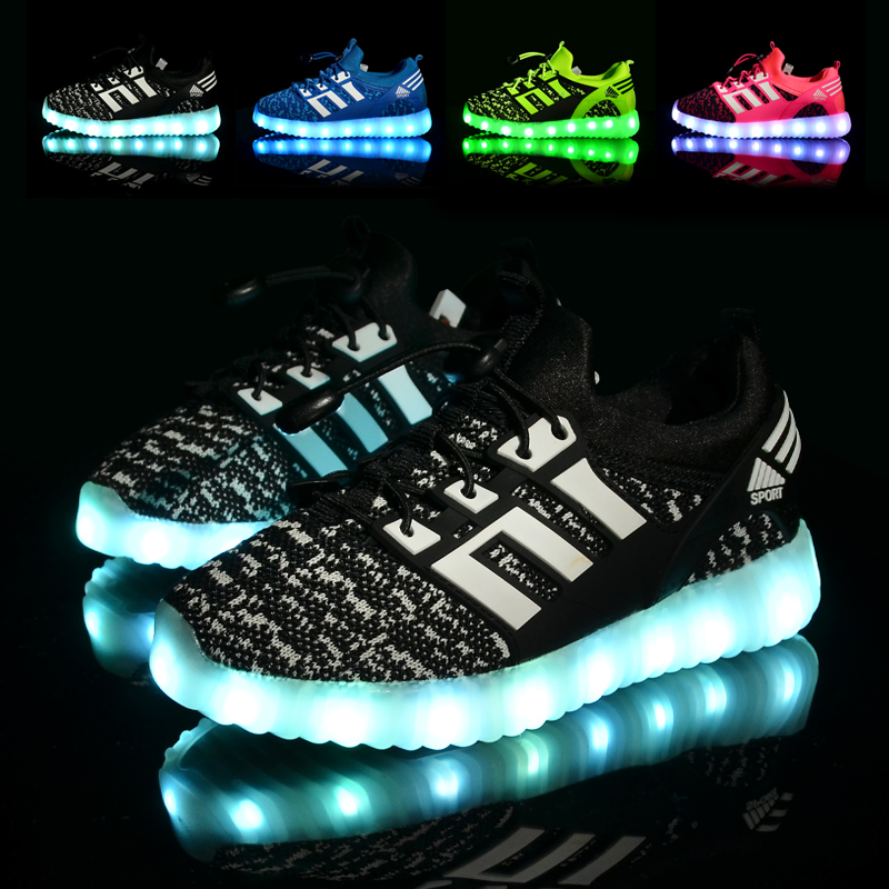Glowing-Children-casual-Shoes-with-USB-rechargeable-Kids-Led-Light-up-Shoes-Luminous-Sneakers-for-Boys-Girls-Sneaker-Pink-Black-4