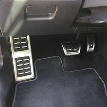 Jameo Auto de acero inoxidable coche Freno de combustible de Pedal resto pedales de pie para Volkswagen VW Skoda Kodiaq 2016, 2017 de 2018 LHD