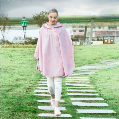 BF040 Fashion thickening twill baby poncho Outdoor portable hooded adult raincoat free shipping