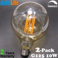 220/230/240/V/Volts AC 4 Wát 6 Wát 8 Wát 10 Wát Châu Âu Vừa Edison Vít dựa G40 E27 G125 Lớn Globe LED Dài Filament Ánh Sáng bóng đèn