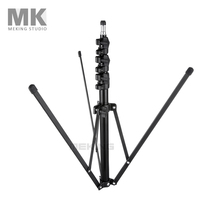 Meking Collapsible Light Stand 200cm/6'6″ L-1700 tripod for Photo Studio Lighting Equipment 4 Sections