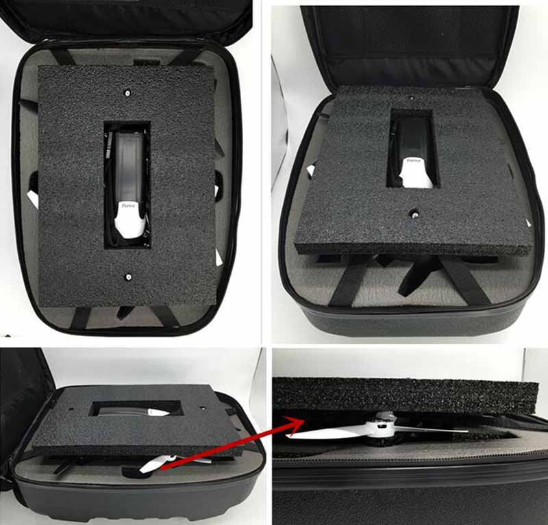 US $43 58 |1PC Portable Hard Storage Case Protection Bag Backpack  Waterproof For Bebop 2 drone/FPV/Skycontroller Spare Parts Accessories-in  Parts &