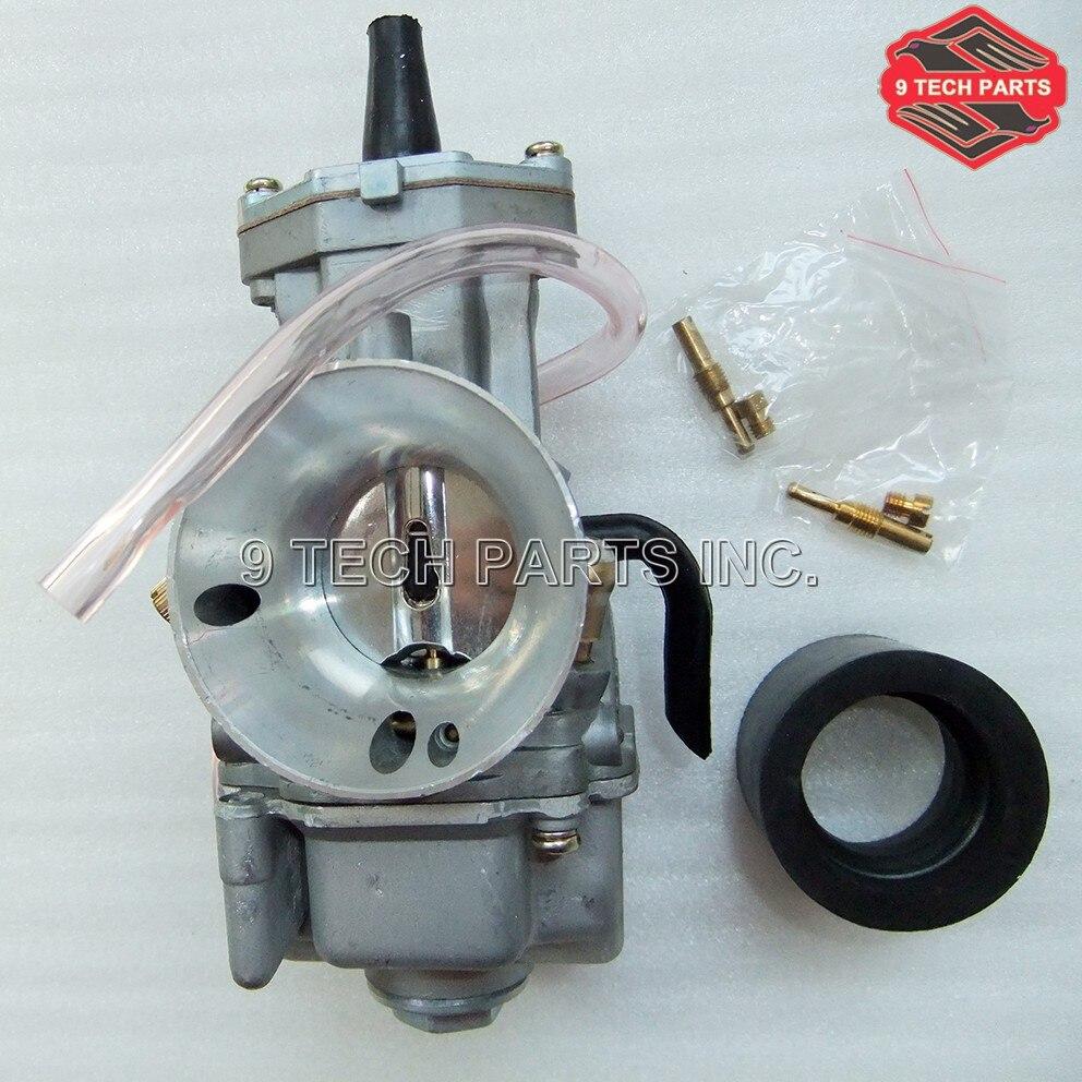 Carb. Carburador de corrida universal com 2 e 4 tempos, para oko pwk 21 24 26 28 30 32 34mm adequado para todos os motores de motocicleta