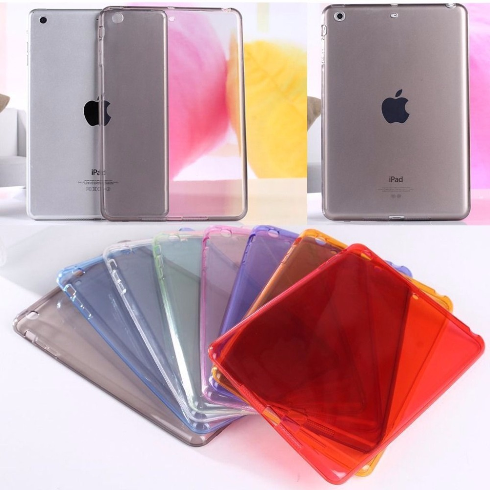 Ultra-thin Crystal Soft TPU Transparent Silicone Clear Case Cover For Ipad Mini 1 2 3 Tablet PC