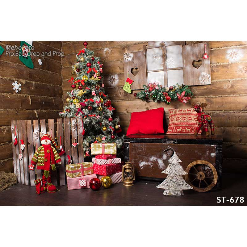 Christmas Theme photography backgrounds Vinyl cloth Photography Backdrops computer printing backdrops for photo studio ST-678 wedding indoor white curtain window thin vinyl cloth photography backgrounds computer printing backdrops for photo studio
