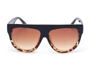 Fashion Sunglasses Women Brand Design Gradient Sun Glasses Female Rivet Shades Flat Oversize Shades Sunglass UV400 M100 4