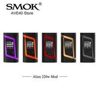 100 Original Electronic Cigarette SMOK Alien 220w Mod TC Box Mod 510 Thread Vaporizer Match For