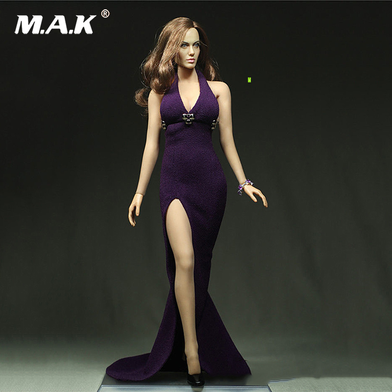 Cooperative Whole Set Figure 1:6 Scale Female Customized Long Evening Dress Diy Accessories With 12 Ph Large Bust Action Figure Doll 100% Original Toys & Hobbies