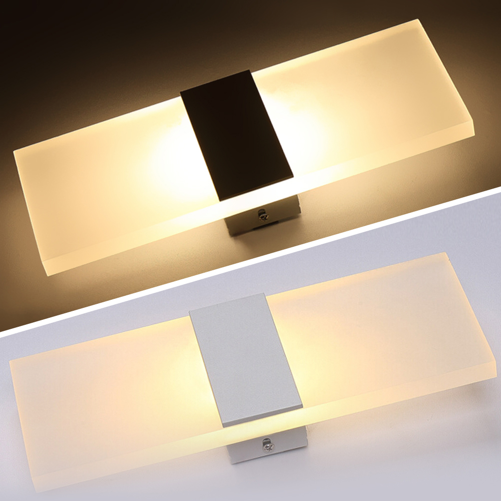 Hot Sale 6W LED Acrylic Wall Sconce Lamp Room Office Canteen Decor ...