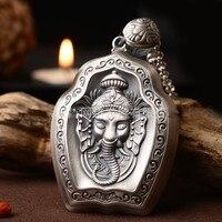 Новые серебряный кулон s999 серебряный доллар как Бог большой кулон серебро свитер цепи.
