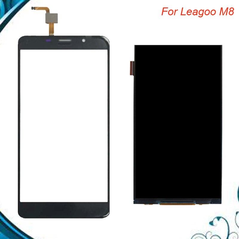 5,7 zoll 100% Taested OK Für Leagoo M8 LCD Display + Touchscreen Ersatzteile Ersatz Zubehör Für Leagoo m 8 IN lager