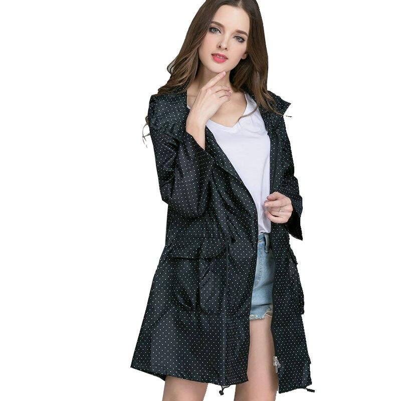 Long Women Ladies Rain Coat Fashion Women's Rainwear Jacket Breathable Portable Water Repellent Ladies Fashion Raincoats R5C025