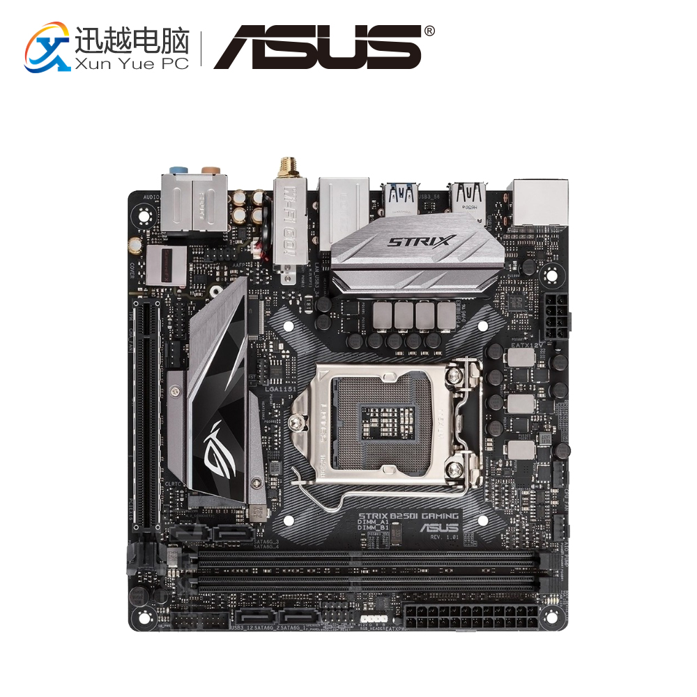 все цены на Asus ROG STRIX B250I GAMING Desktop Motherboard B250 Socket LGA 1151 i7 i5 i3 DDR4 32G SATA3 USB3.0 Mini-IATX онлайн