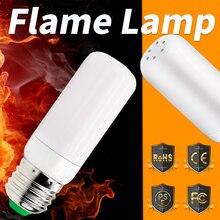 LED Flame Lamp SMD2835 E27 Led Effect Light 220V Dynamic Fire Bulbs 42leds Atmosphere Vintage Lighting For Christmas