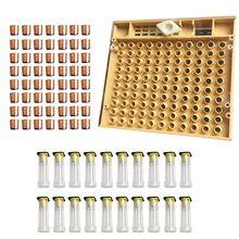 Juego de equipos de Herramientas de apicultura, Caja de cultivo de Reina, tazas de célula de abeja de plástico, kit de tazas, jaula de Reina, 110 Uds.