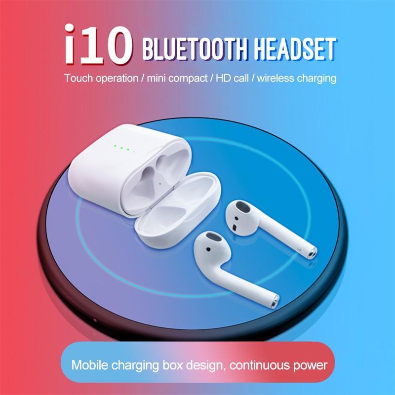 I10 Tws meilleur écouteur sans fil tactile écouteurs Bluetooth 5.0 casque sport Support sans fil de charge pour tous les téléphones intelligents