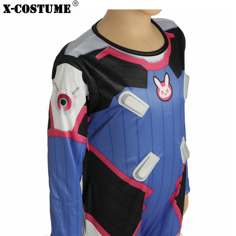 X-COSTUME OW DVA Children Jumpsuit 4 - 6 Years Old / 7 - 9 Years Old  Cosplay Costume Polyester High Quality Brand Sale For Kid